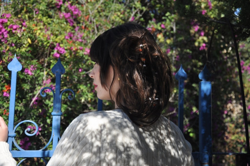 איך מתארים גדר שיצאה מגדרה ולבשה כחול חגיגי? (צילום:הדס עמר)